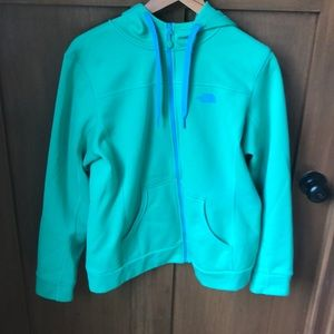 The NORTH FACE hoodie with blue details